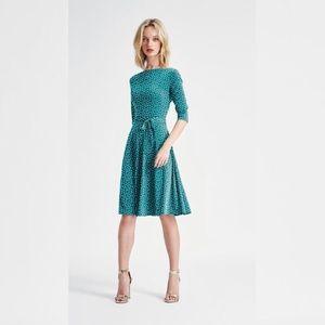 Leota Confetti Dot Belted Fit And Flare Midi Dress